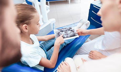 Снимок детских зубов